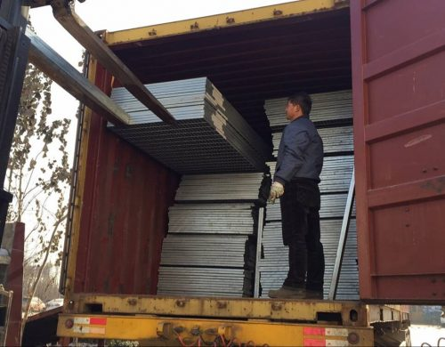 steel grating load container